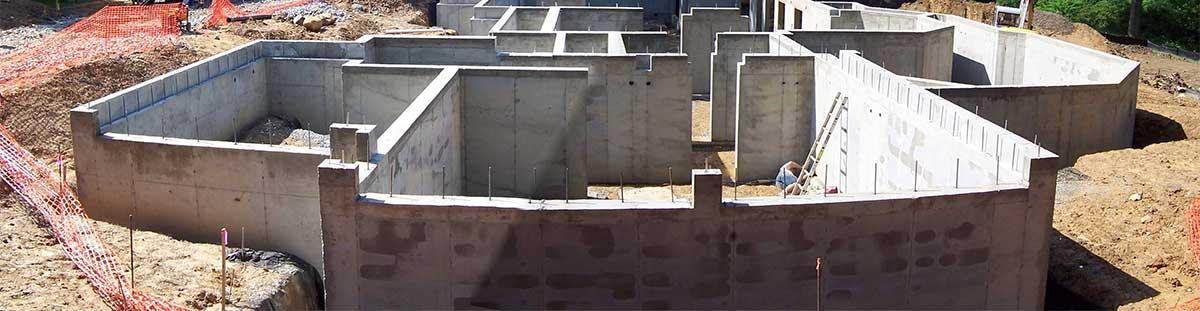 Ленточный железобетонный фундамент в Пскове